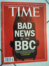 rivista TIME november 26 2012 BAD NEWS at the BBC INSIDIE a SYRIAN COMBAT ZONE
