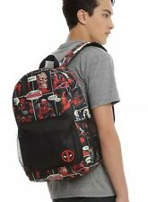 Marvel Deadpool Comic Strip Word Bubble School Book Bag Backpack New With Tags!