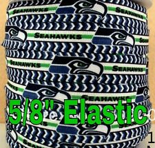 "NFL Seattle Seahawks 3yds  5/8"" Elastic FOE, hair Ribbon Bow Headband"