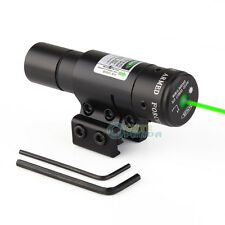 Tactical Green Laser Sight Rifle Dot Scope + Swith+Picatinny Rail for Rifle Gun