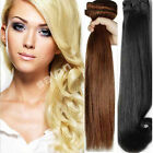 """Full Head Human Thick Hair Extensions Double Weft Standard Weft 13-24"""" World AU"""
