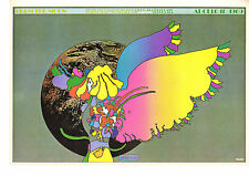 Vintage Peter Max Poster Print, 1960s Psychedelic Flower Power Item 5220, APOLLO
