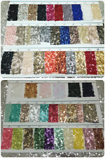 NEW ! ACG sequin fabric 86 colour samples card for cloth/ decoration/ tablecloth