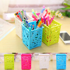 1X Useful Plastic Stationery Pen Case Organizer Makeup Storage Box Random Color