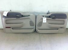 2002 Ford F250 SD Power Left & Right Front Inside Door Trim Panels Parchment DH