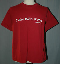I Am Yahweh Large Red T-Shirt (L Messiah Jehovah Chanukah Hanukkah Christmas)