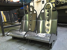 Aluminium Bucket Seat (Small style Alt) Pair - Kit Car, Locost, Westfield, Mini.