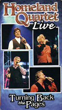 "HOMELAND QUARTET...""LIVE""...""TURNING BACK THE PAGES"".....LIVE GOSPEL CONCERT VHS"