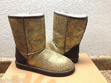 UGG CLASSIC SHORT LEOPARD CALF HAIR METALLIC GOLD BOOTS US 9 / EU 40 / UK 7.5