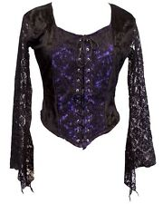 JORDASH GOTHIC VELVET AND STRETCH LACE SLEEVES PURPLE / BLACK 12/14/16