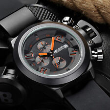 Megir Watch Men's Silicone Oversized Date Sport Quartz Analog Wrist Watch