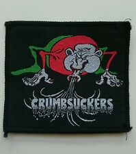 "Vintage Crumbsuckers Embroidered Patch Thrash Punk 3 1/8"" x 3 5/8"""