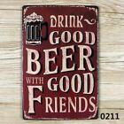 BEER FRIEND vintage Tin Sign Bar pub home Wall Decor Retro Metal art Poster