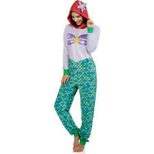 LITTLE MERMAID Ariel One Piece Womens Disney Costume Pajamas UnionSuit Hoodie XS