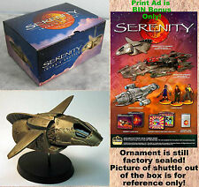 SERENITY FIREFLY Ornament INARA'S SHUTTLE Limited Edition +Buy It Now Bonus!