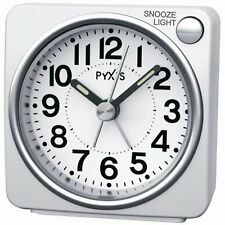 SEIKO CLOCK alarm clock ( Seiko clock ) PYXIS light ( white ) NR437w