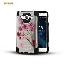 Shockproof Duo Layered Hybrid Skin Case w/Stand Cover for Samsung Models