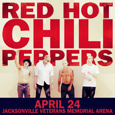 RED HOT CHILI PEPPERS 2016 JACKSONVILLE, FLORIDA CONCERT TOUR POSTER