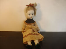 """Old Vtg Porcelain Doll Toy 18"""" Tall Blonde With Decorative Dress"""