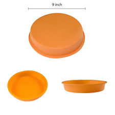 Round Silicone Cake Mold Pan Muffin Chocolate  Pizza Baking Tray Mould Bakeware