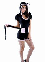Sexy Women's Naughty Cutie Pussycat Cat Fancy Dress Costume