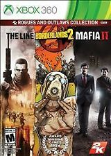 XBOX 360 Outlaws & Rogues Collection THE LINE BORDERLANDS 2 MAFIA II NEW 3 GAMES