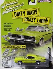 """`69 Dodge Charger R/T """"Dirty Mary Lazy Larry"""" 1969 *Johnny Lightning 1:64 NEU"""