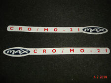 2 AUTHENTIC NOS RALEIGH CRO/MO-21 MAX BIKE FRAME STICKERS #18 DECALS