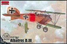 ALBATROS D.III GERMAN AIRCRAFT PLANE WWI 1/32 RODEN 606
