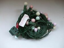 Vintage Easter Lights Pastel Glass Bulbs Green Wire Light String Christmas Tree
