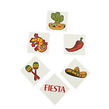 36 FIESTA CINCO DE MAYO MEXICAN tattoos CHILI PEPPER PINATA MARACA Party Favor