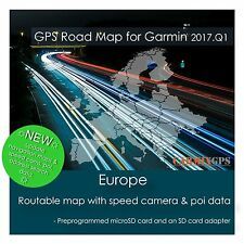CARMIX-GPS | Europe (all countries) Map for Garmin | microSD-SD Card MC2017Q1EU