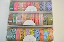 30 Roll Lot of CraftyRolls Washi Tape 10M Length Christmas Flowers & Shapes NIB