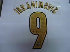 IBRAHIMOVIC' #9 Juventus Home 2004-05 PU PRINT NAME NUMBERING