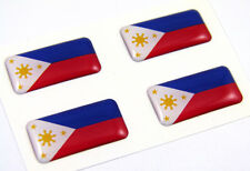 Philippine MINI domed decals flag 4 emblems Philippinian Car bike boat. stickers