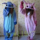 Adult Animal Kigurumi Pajamas Costume Cosplay pyjamas Blue Stitch angel lilo New