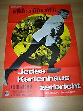 JEDES KARTENHAUS ZERBRICHT - Kinoplakat A1 (A) ´68 - ORSON WELLES George Peppard