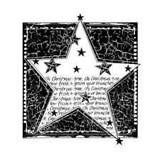 Crafty Individuals CHRISTMAS TREE STAR Unmounted Red Rubber Stamps