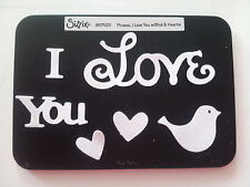 Sizzix Sizzlits I LOVE YOU BIRD HEART Medium Die Cutter Fit Cuttlebug & Big Shot