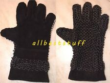 Chainmail Leather Gauntlet Butted Black Leather Chain Mail Glove