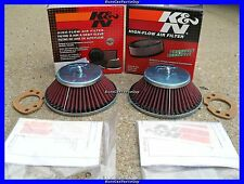 """2 K&N Air Filter's for Datsun 240z with SU Hitachi 1-3/4"""" Round Top Carbs NEW"""