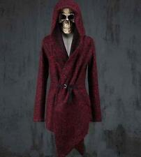 Celebrity Mens Korean Wool Top coat Hooded Jacket Outwear Long Cape cloak S-4XL