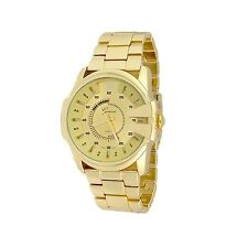 Gold Watch Designer Classy Fashion Watch Fashion Geneva Metal Band Men Boyfriend