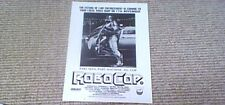 ROBOCOP Virgin Premiere UK VHS Video Promotional Mini-Poster 1987 Peter Weller