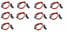 """10 pack 12"""" 10 Gauge 2 Pin Quick Disconnect IMC AUDIO Polarized Wire Harness"""
