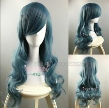 New Sex Lady's 70cm Long Curly Cosplay Party Wigs Synthetic Hair Woman Full Wig