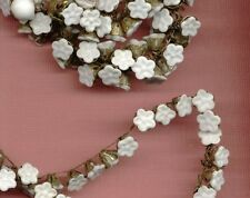 """3"""" VINTAGE HASKELL Beaded Flower Daisy wired Glass TRIM Jewelry FINDINGS Lot"""