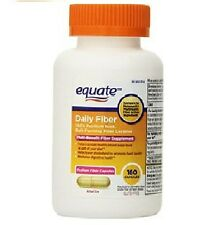 Equate Fiber Therapy 100% Natural Psyllium Husk Fiber 160 Capsules