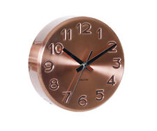 Copper Wall Clock, Kitchen Clock, Engraved Design