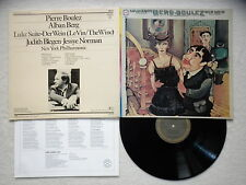 """LP ALBAN BERG / PIERRE BOULEZ """"Lulu Suite & Der Wein"""" CBS MASTERWORKS 76 575 §"""